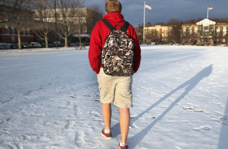 Guys who wear shorts to school in December are outraged about online school